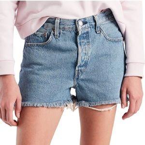 Levi's 501 High Waisted Shorts 26